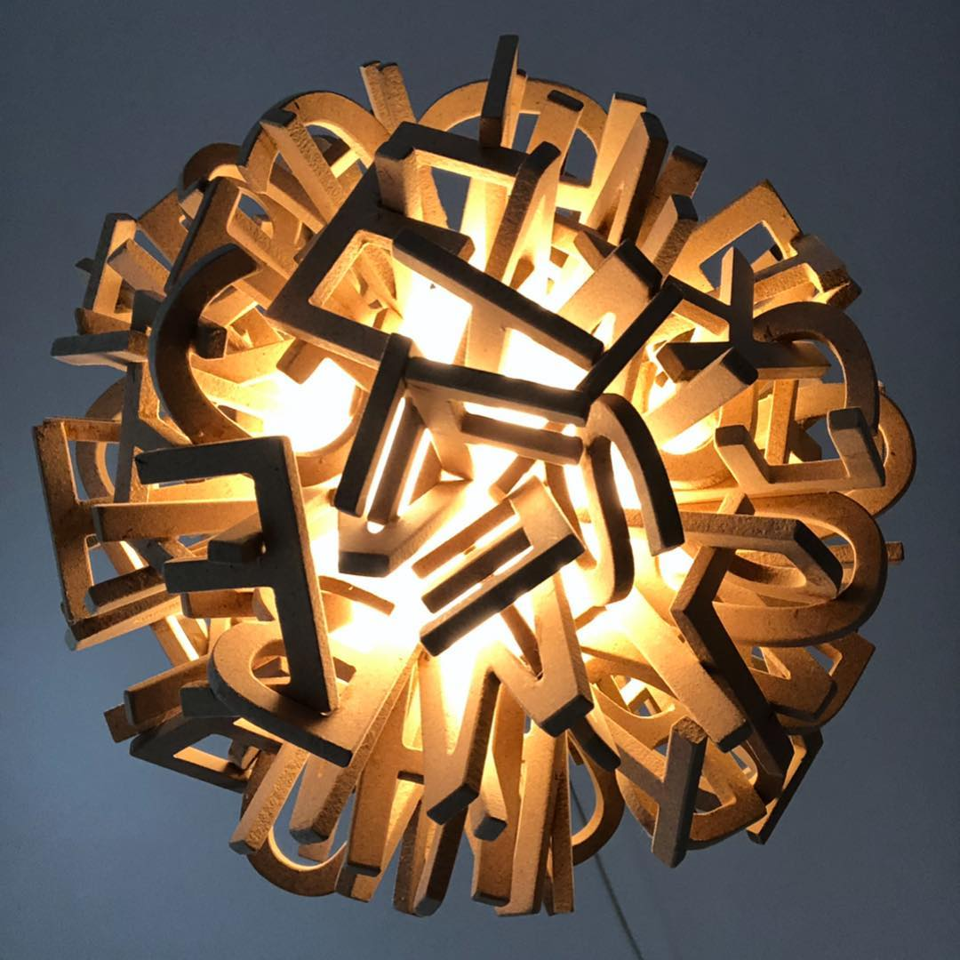 "PAUL DEERY: 1 ""Grace"" 2019 painted mdf Illuminated sphere 12in"