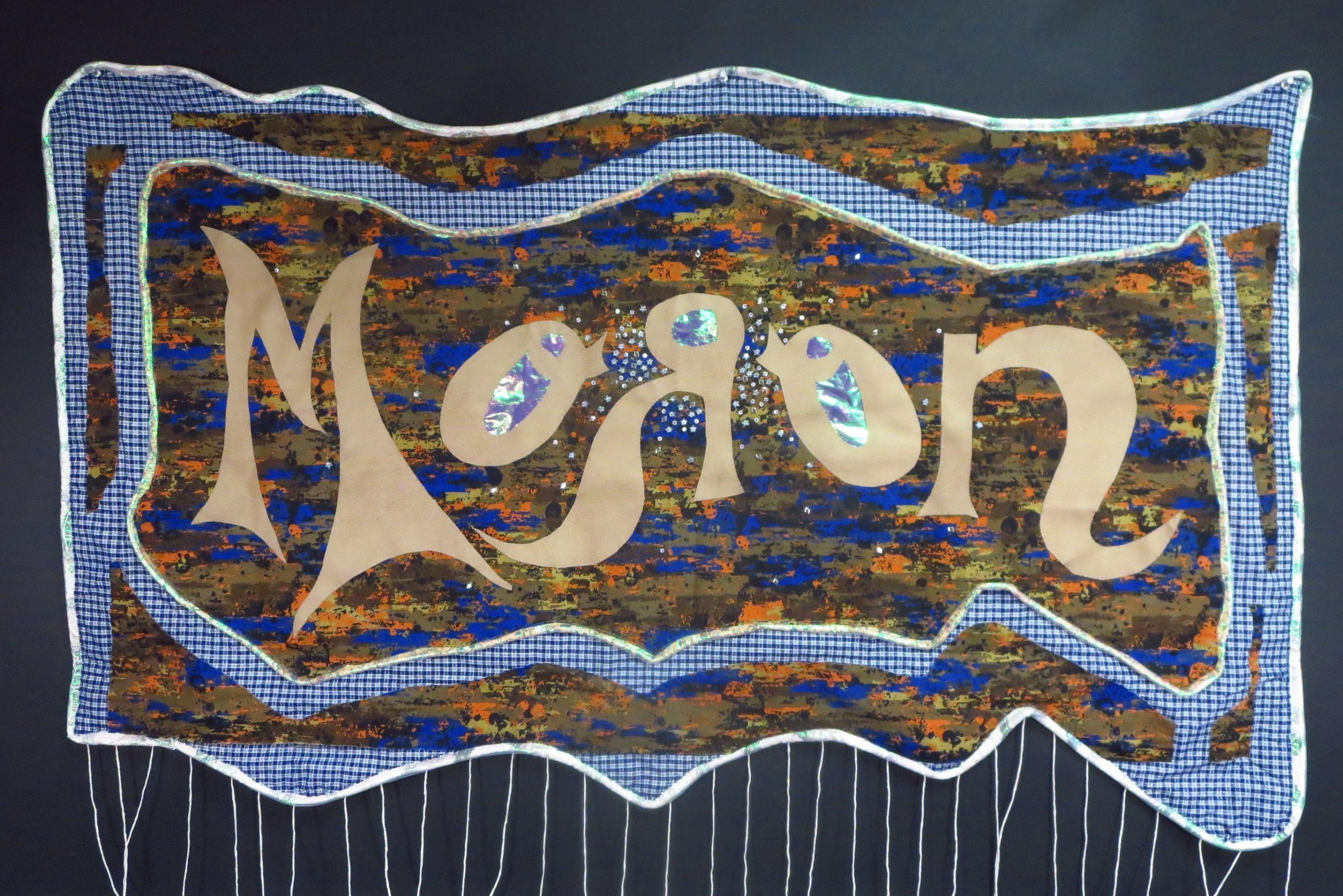 4 (Fucking) Moron - hand sewn fabrics - aapprox 28 x 53