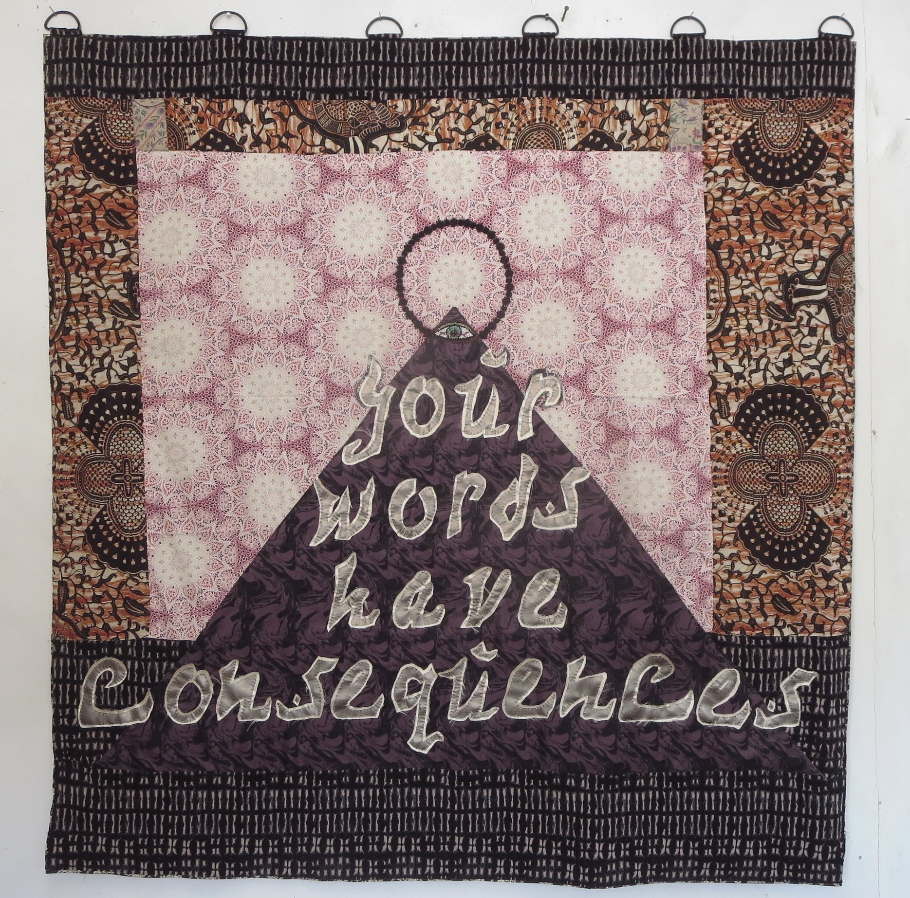 5 Your Words Have Consequences - hand sewn fabrics