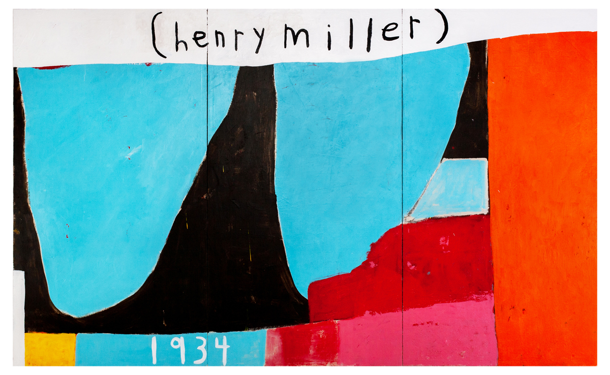 3 Henry Miller 2019 mixed media on canvas 56 x 90in (triptych)